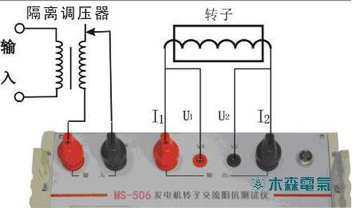 你看了这个试验接线图,就能明白其中的原由啦!-发电机转子交流阻