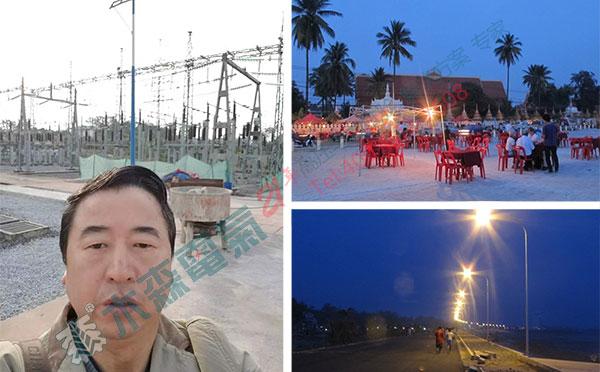 老挝变频串联谐振成套试验装置试验现场