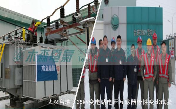 武汉台玻35kV变电站电压互感器极性变比试验现场