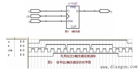 锁存器latch和触发器flipflop的区别     从图8可知,例10对应的电路是