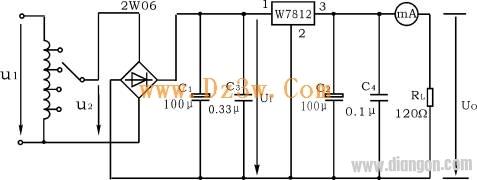 7812引脚图及参数,7812稳压电路图