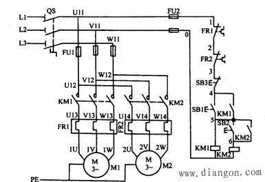 顺序控制线路也有多种,图2是电动机的顺序起动,逆序停止控制线路,其
