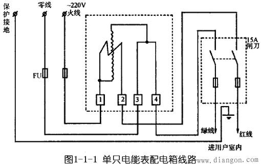 电能表配电箱接线图