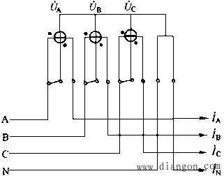 三相四线有功电能表的正确接线