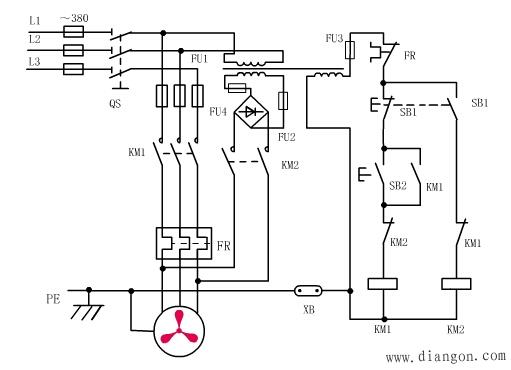 电动机常用的制动控制方法