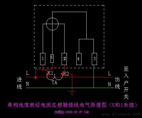 单相有功电度表/三相四线制有功电度表/电子式电能表的工作原理及接线