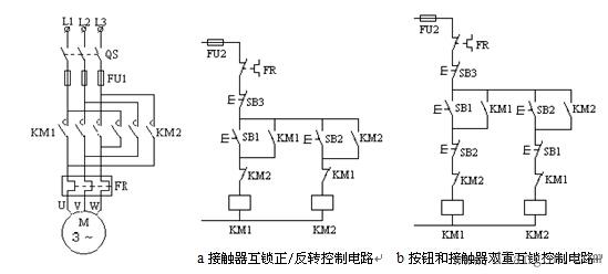 1,接触器互锁正/反转控制电路