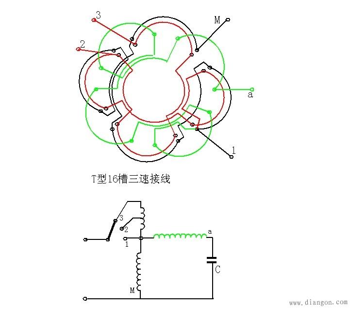 单相调速电机接线图