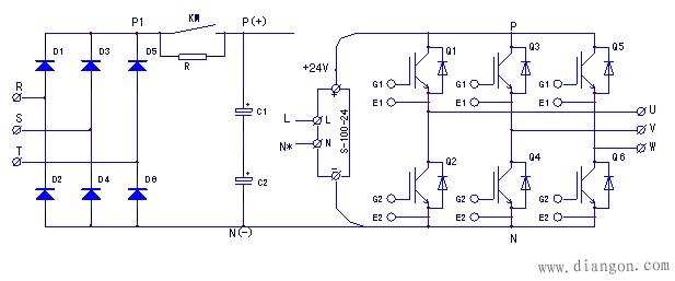 保险起见,先将逆变电路的供电正端断开,串接了两只灯泡上电试机.