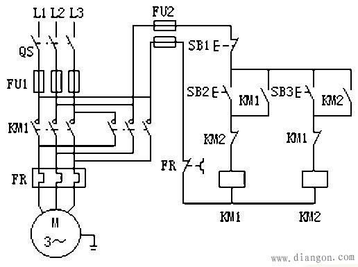3,接触器控制的正反转电路