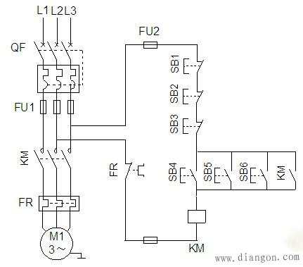 电力拖动控制线路它包括有:点动线路,连续运转电路,正反转电路,多