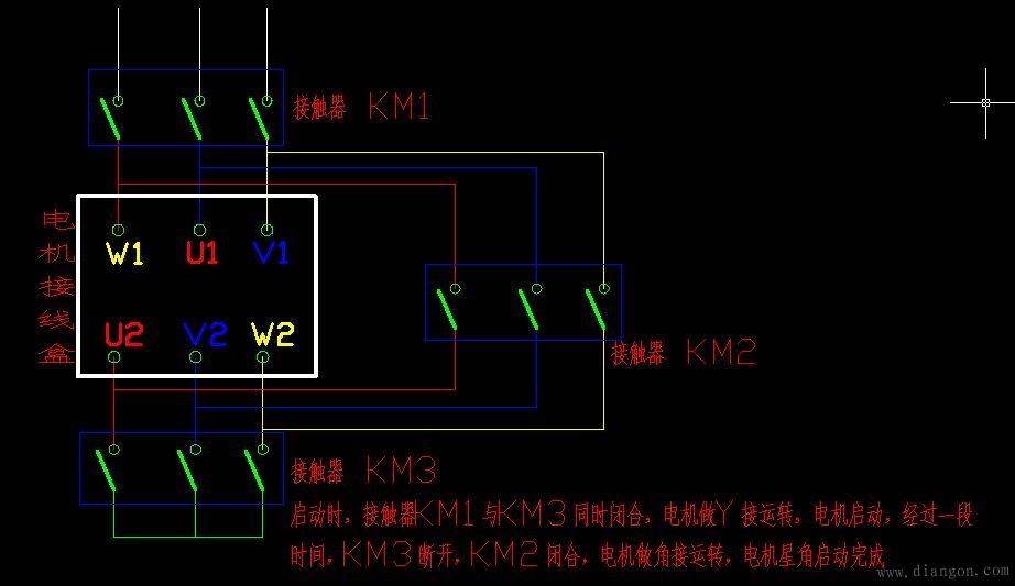 电动机接线图_三相电机接线图_三相异步电动机接线图