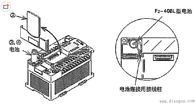 三菱PLC内部电池的更换步骤