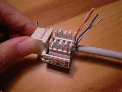 电脑网线插座怎么接线?电脑网线插座接法图解