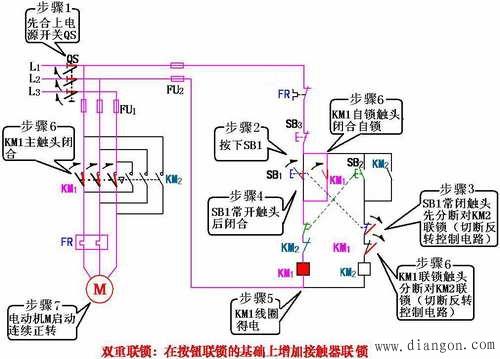 三相异步电动机双重联锁的正反转控制
