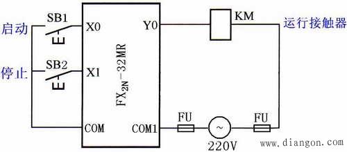 (a)货物升降机上升的plc控制系统的启动控制示意图 货物升降机上升的