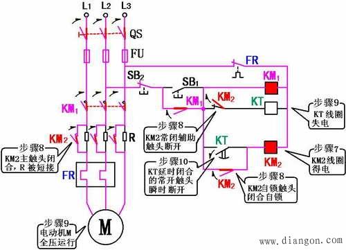定子绕组串接电阻降压启动控制