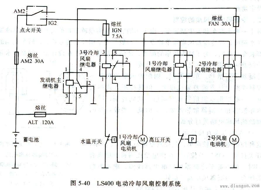 汽车空调控制电路实例   主要分析电路的特点,组成 ,控制原理.
