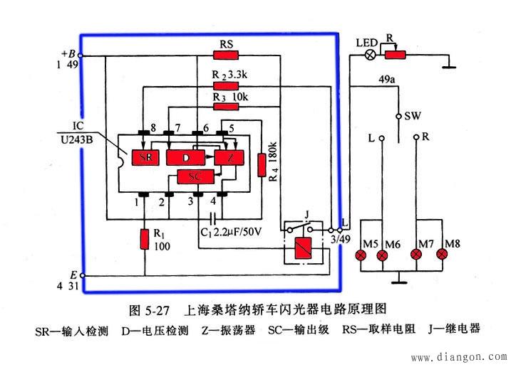 行业知识 转向信号灯的闪光器   为制造闪光器而设计制造的集成电路