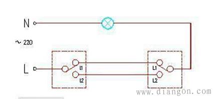 家用灯双控开关接线方法图解