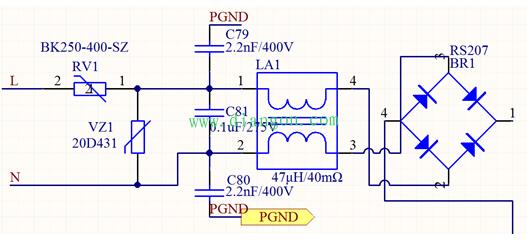 电力仪表电源抗干扰设计电路