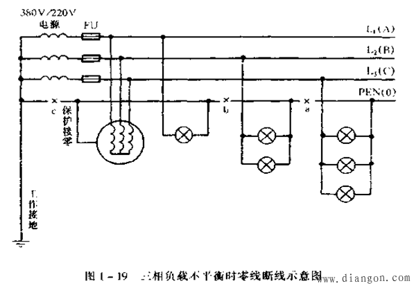 在三相四线制(380/ 220v)供电系统中零线的作用是什么