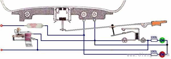 普通电饭锅接线实物图