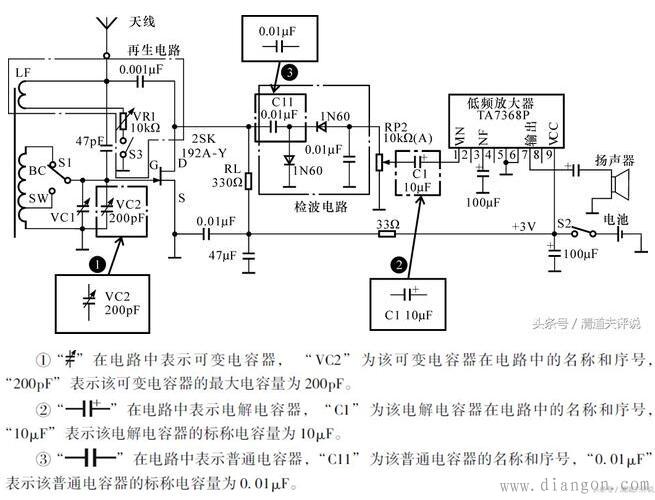 电容器在电路中的名称,序号及主要技术参数