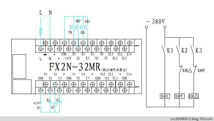三菱PLC星 三角降压启动控制编程实例