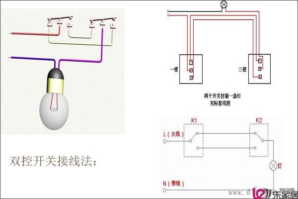 家用电灯开关接线图