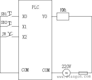 异步电动机plc控制线路接线图