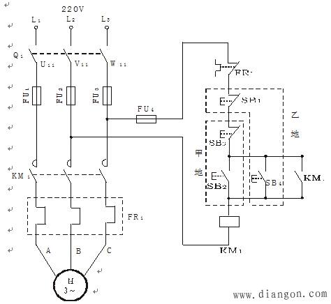 行业知识 多点控制电路                              在大型机床