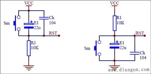 增加放电回路的 rc 复位电路