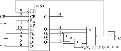 六进制计数器的电路图-N M的情况数制