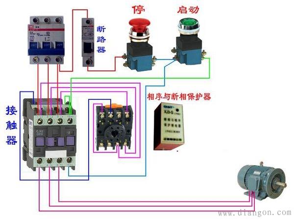 相序继电器工作原理以及接线图解