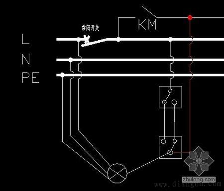 开关接线图_双联开关接线图_双联双控开关接线图_三联双控开关接线图