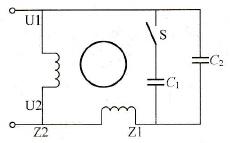 电容起动、电容运行单相异步电动机等效电路图
