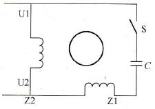 电容起动单相异步电动机等效电路图