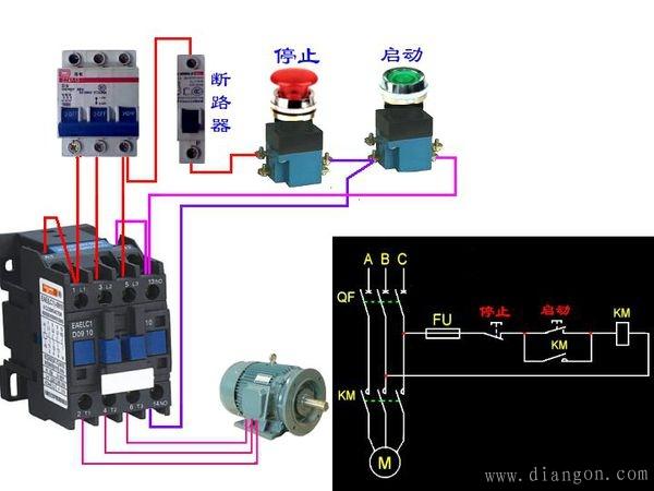 交流接触器自锁原理及接法图片