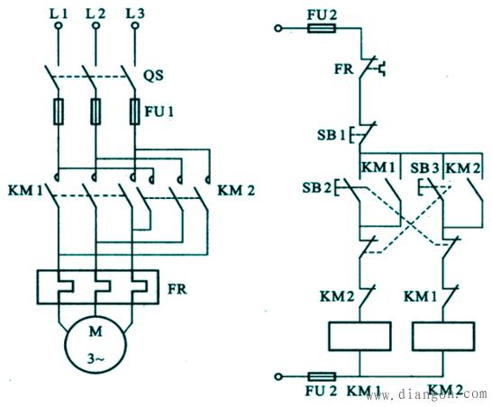 双重互锁电动机正反转控制电路设计图解