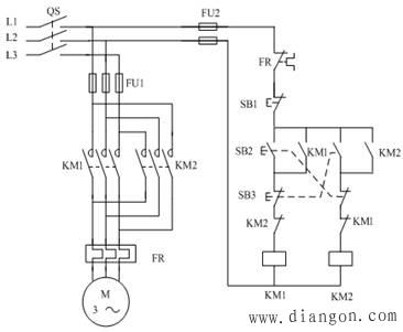按钮,接触器双重互锁的正反转控制电路图解