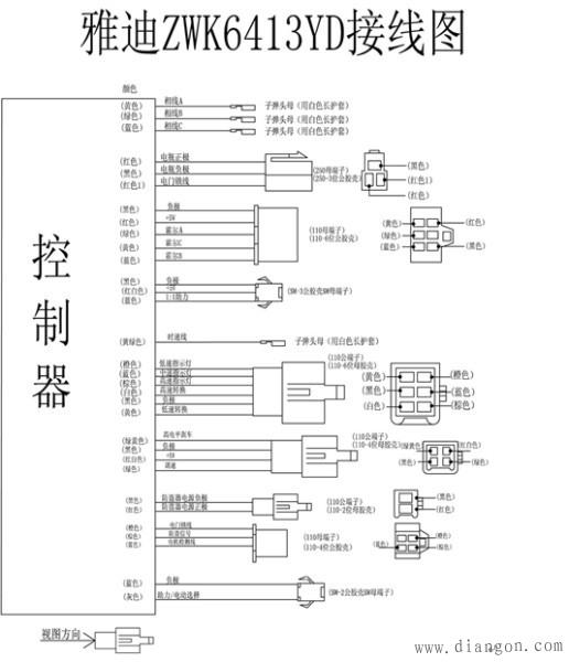 雅迪电动车控制器接线图解读 - 木森电气