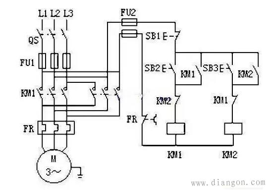 4,双重联锁正反转控制电路
