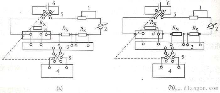 图2  补偿法测定三线制感温元件电阻接线