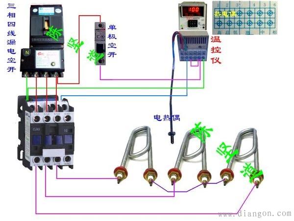 温度控制器接线图