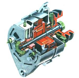 交流发电机的构造图片