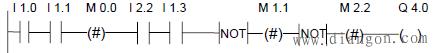 ---(#)--- 中间输出梯形图