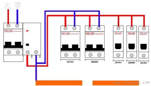 家用配电箱安装接线实物图解