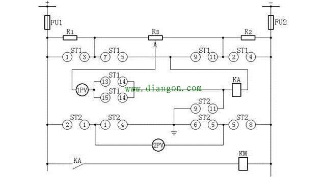 为防其它继电器误动,要求电流继电器ka有足够大的电阻值,一般选30kΩ