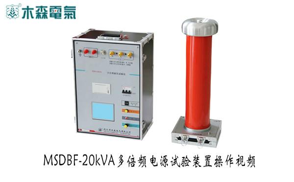 MSDBF 多倍频电源试验装置操作视频